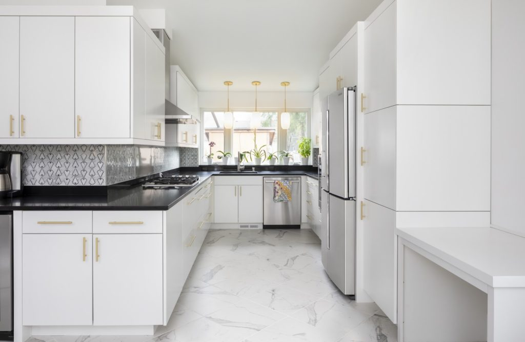 A beautiful example of a model home's kitchen from Heartwood Builders