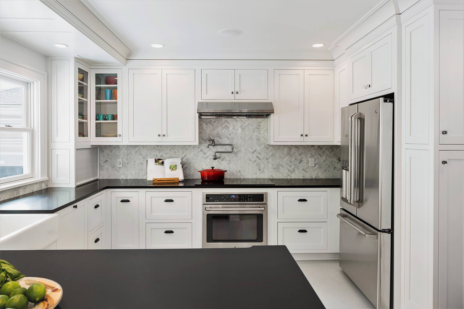 A newly remodeled kitchen by Heartwood Builders